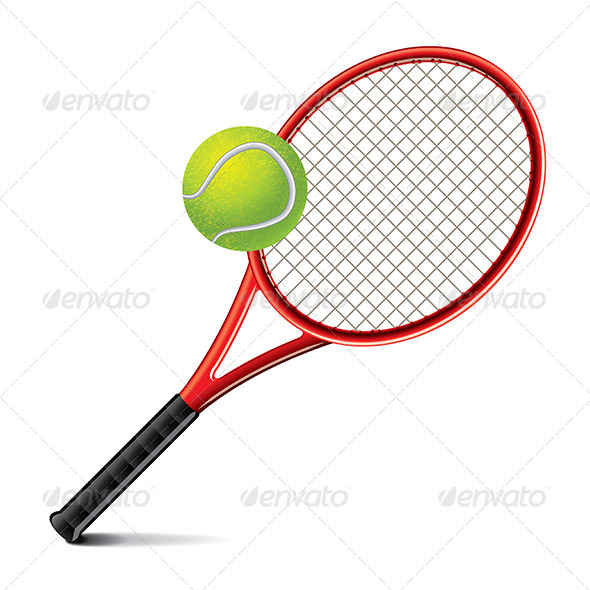 GraphicRiver Tennis Racket and Ball Vector Illustration 6901067