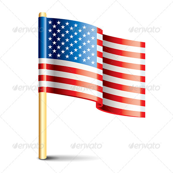 GraphicRiver United States of America Glossy Flag 6901069
