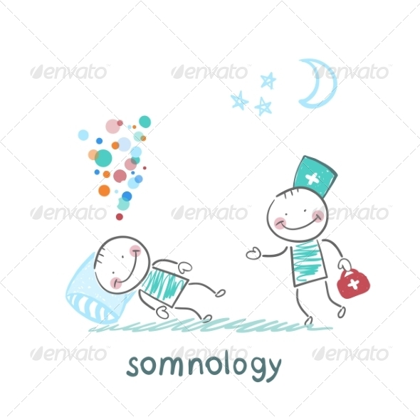 GraphicRiver Somnologist Comes to a Patient Who is Sleeping 6901154