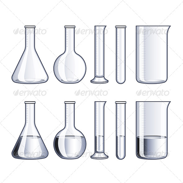 GraphicRiver Glass Flasks and Test-Tubes 6901292