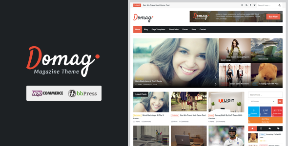 ThemeForest Domag l Flat Responsive & Retina WordPress Magazin 6893226