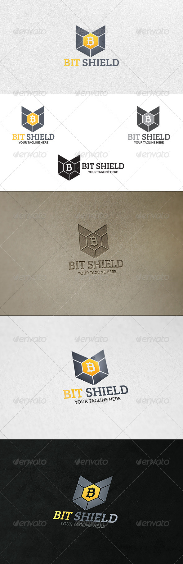 Bit Shield Logo Template