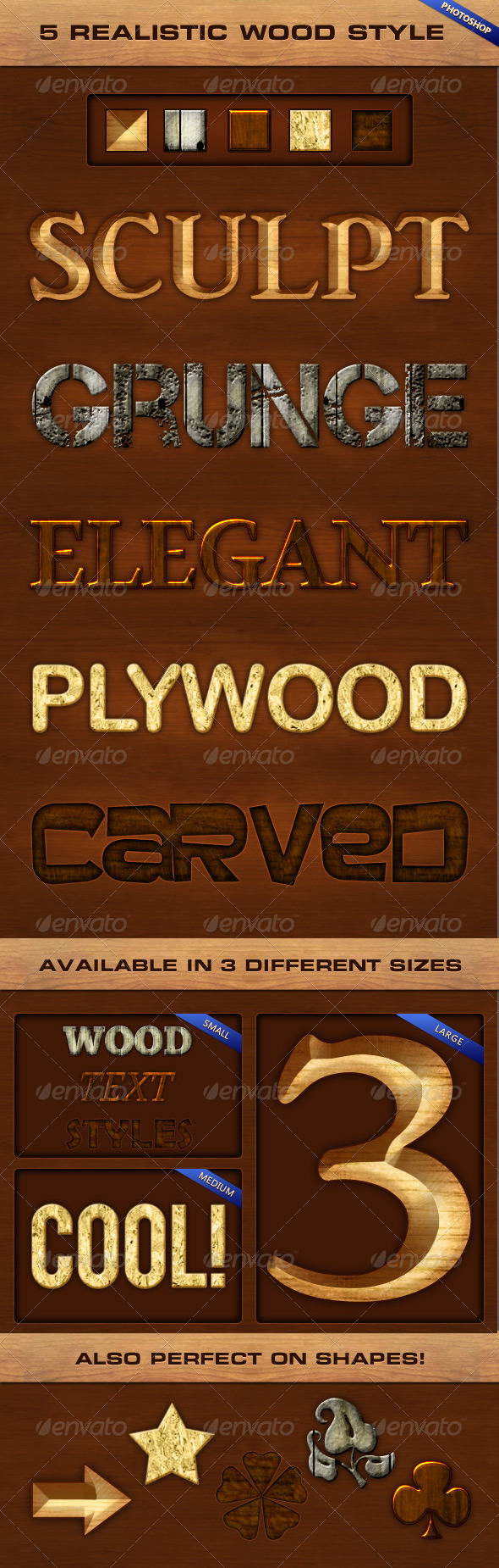 GraphicRiver 5 Realistic Wood Styles 6901960