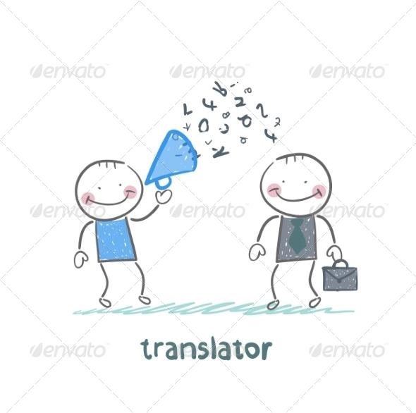 GraphicRiver Translator Listens as Businessman Shouts 6902004