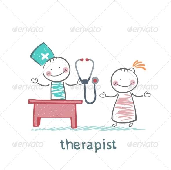 GraphicRiver Therapist at Work Talking to a Patient 6902134