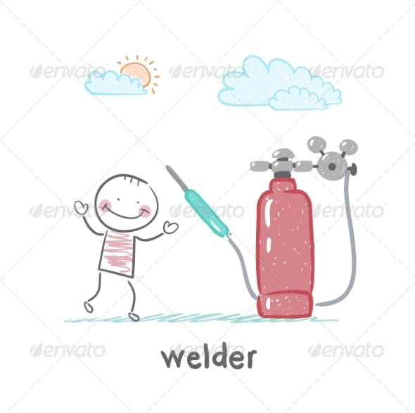 Welder Near Welding Machine