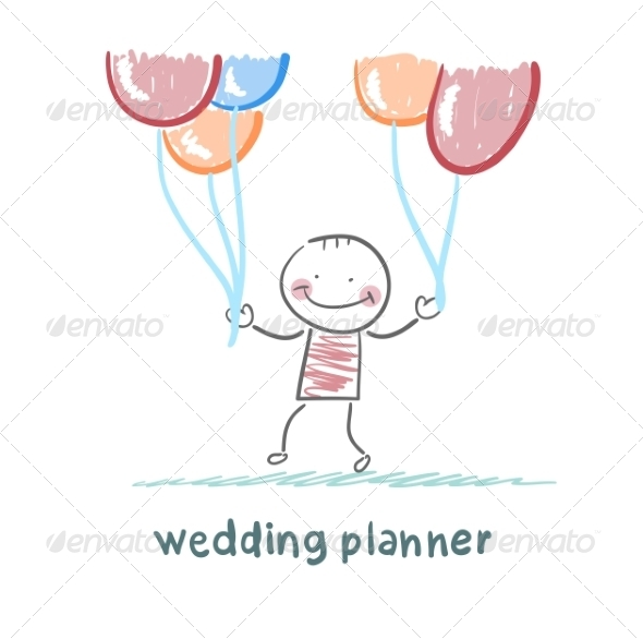 GraphicRiver Wedding Planner with Helium Balloons 6902146