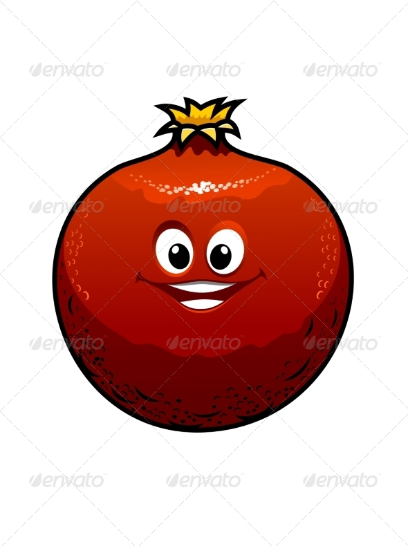 GraphicRiver Red Cartoon Pomegranate 6902256