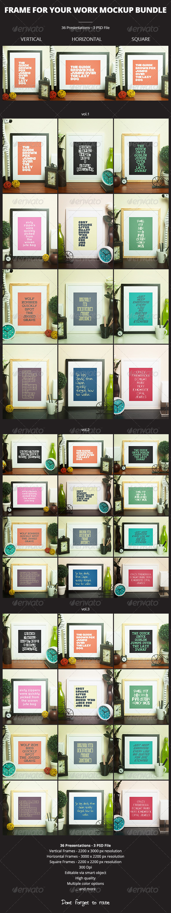 GraphicRiver Frame For Your Work Mockup Bundle 6902275