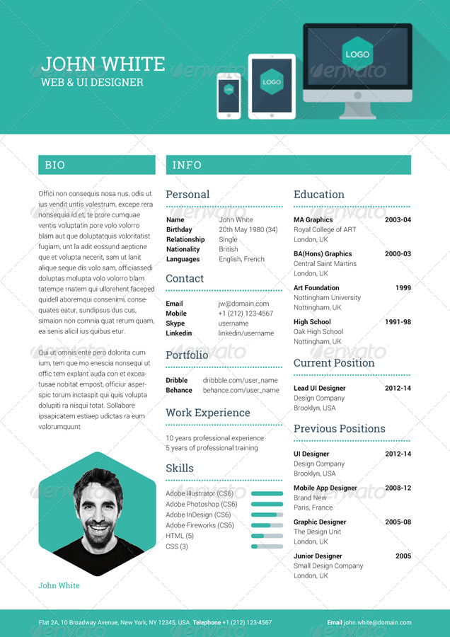creative resume graphicriver