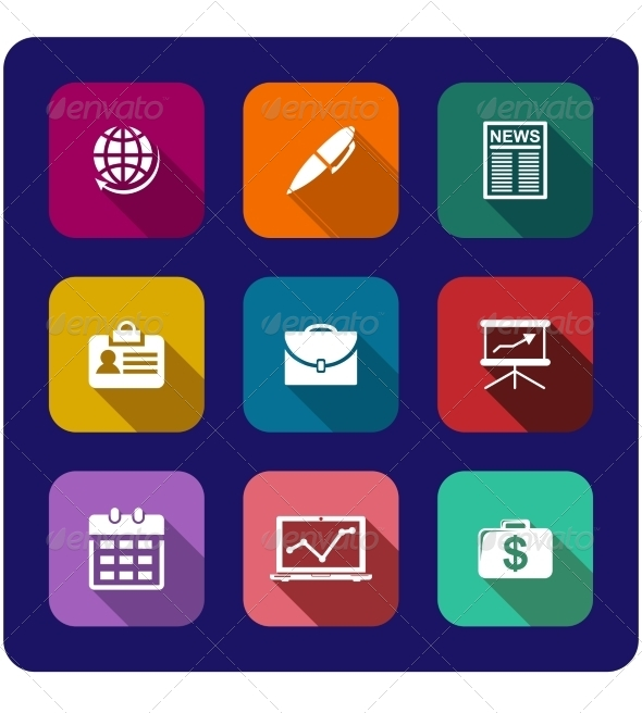 GraphicRiver Set of Flat Business Icons 6902385