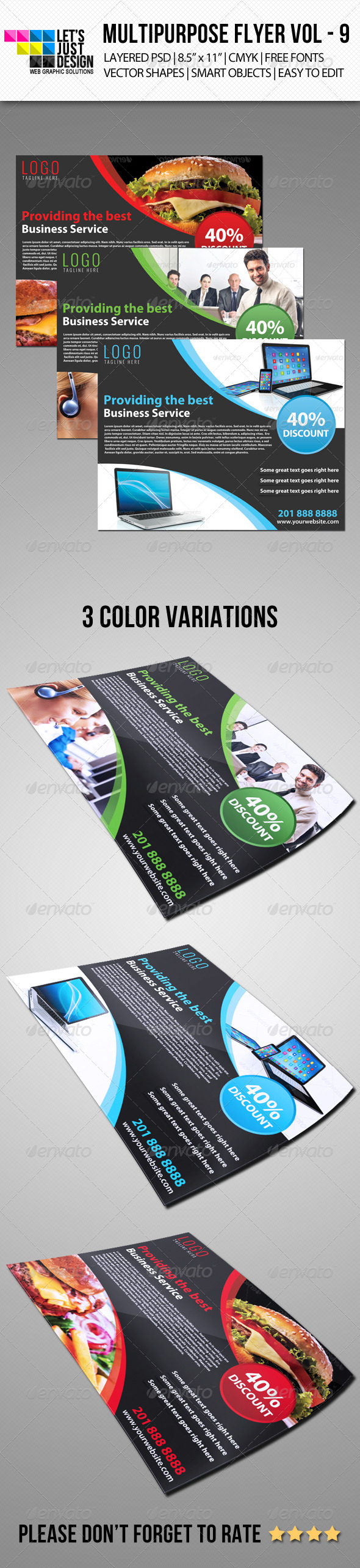 GraphicRiver Multipurpose Flyer Template Vol 9 6902439