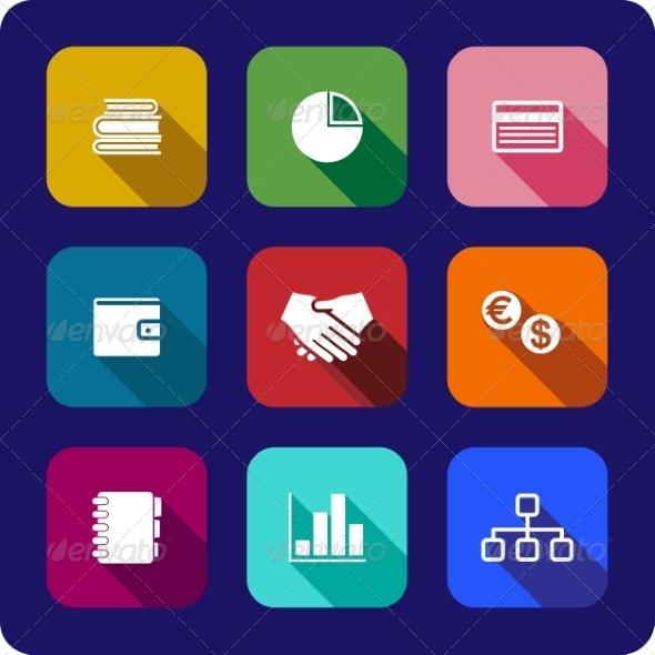GraphicRiver Flat Business Icons 6902442
