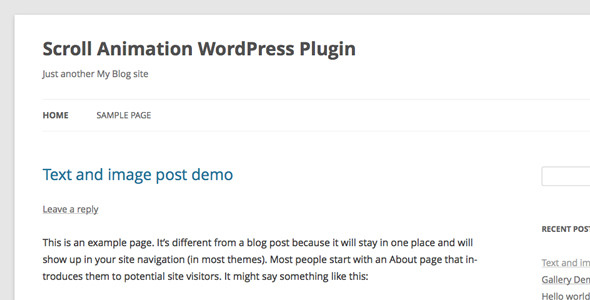 CodeCanyon Scroll Animation WordPress Plugin 6902465