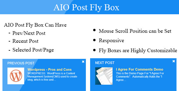 CodeCanyon AIO Post Fly Box Prev Next Recent Selected Post 6902607