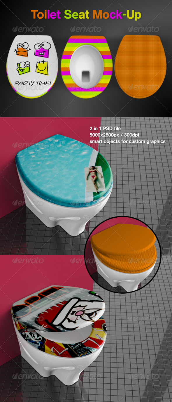 GraphicRiver Toilet Seat Mock-Up 6902610