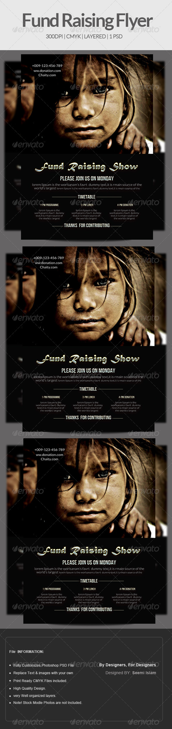 GraphicRiver Charity & Fund Raising Flyer Template 6888737