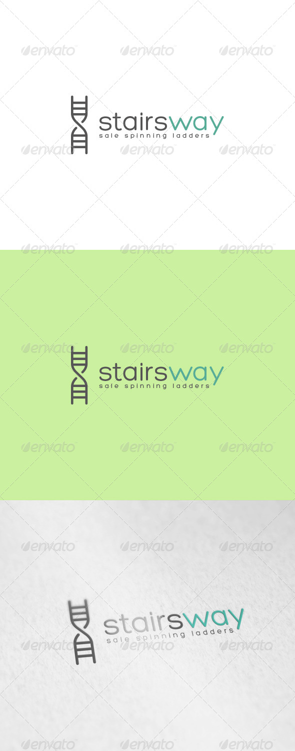 GraphicRiver Stairs Way Logo 6902936