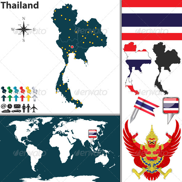 GraphicRiver Map of Thailand 6902998