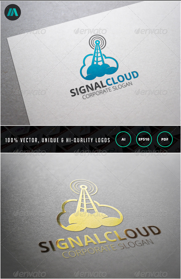 GraphicRiver Signal Cloud Logo Template 6903162