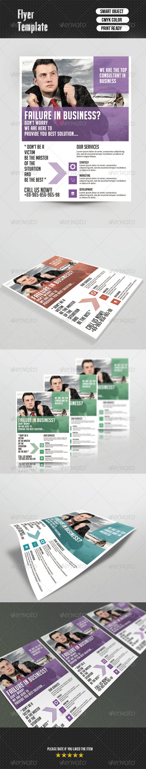 GraphicRiver Corporate Flyer Template 6903178