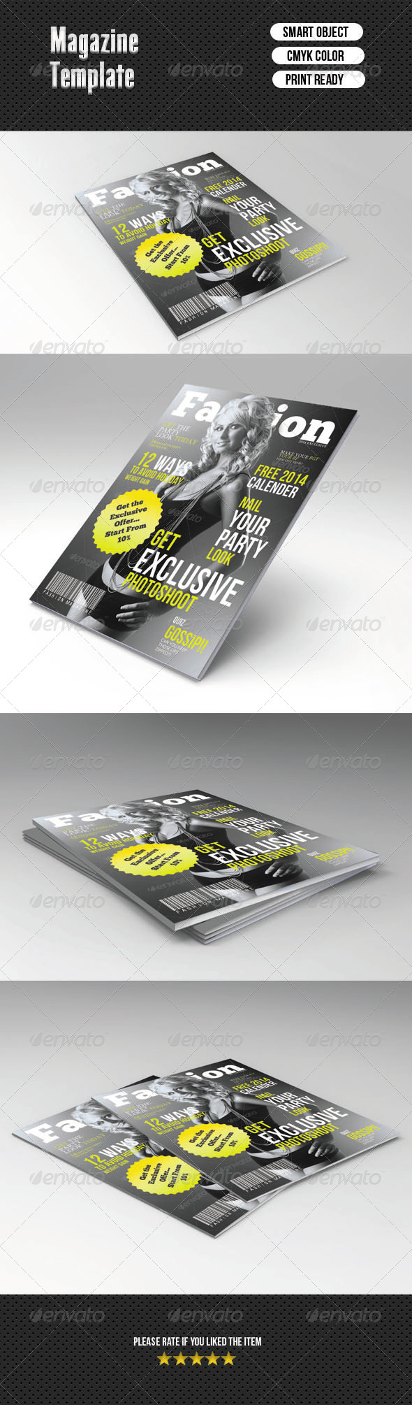 GraphicRiver Magazine Cover Template 6903199