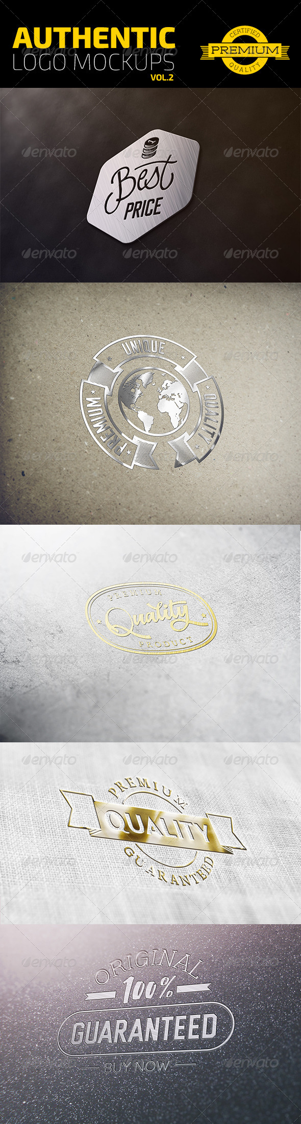 GraphicRiver Authentic Logo Mockups Vol 2 6903276