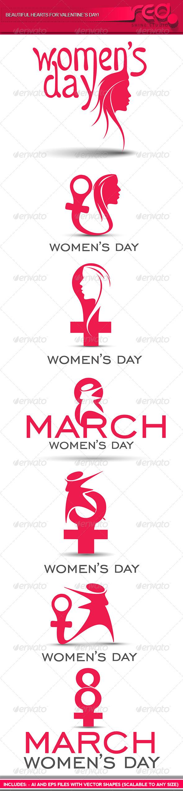 GraphicRiver Woman s Day Icon 6903277