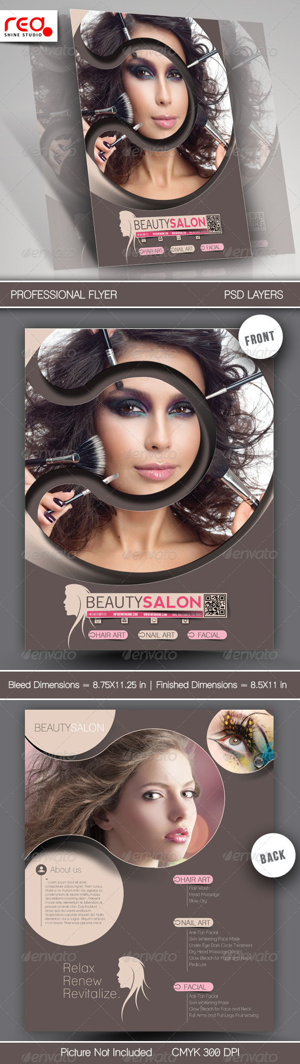 Beauty Salon Promotion Flyer Template