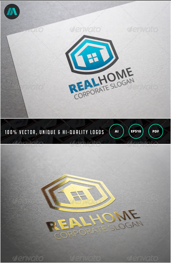 GraphicRiver Real Home Logo Template 6903575