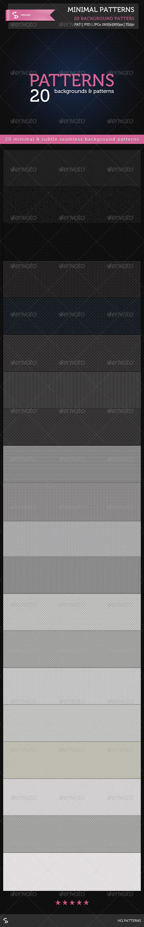GraphicRiver 20 Minimal Patterns Subtle Background Patterns 6903655