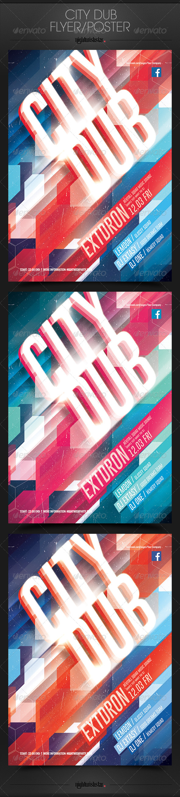 GraphicRiver City Dub Party Poster Flyer 6903667