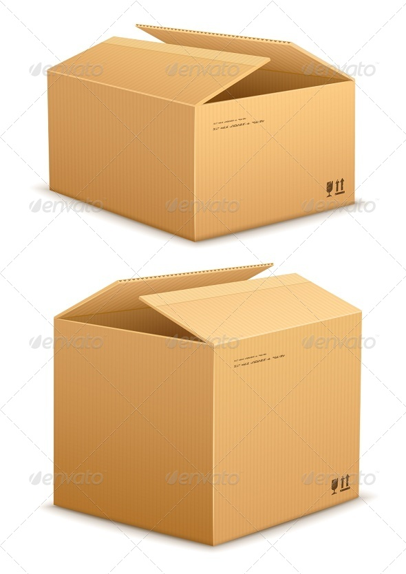 GraphicRiver Cardboard Box for Packing 6903818