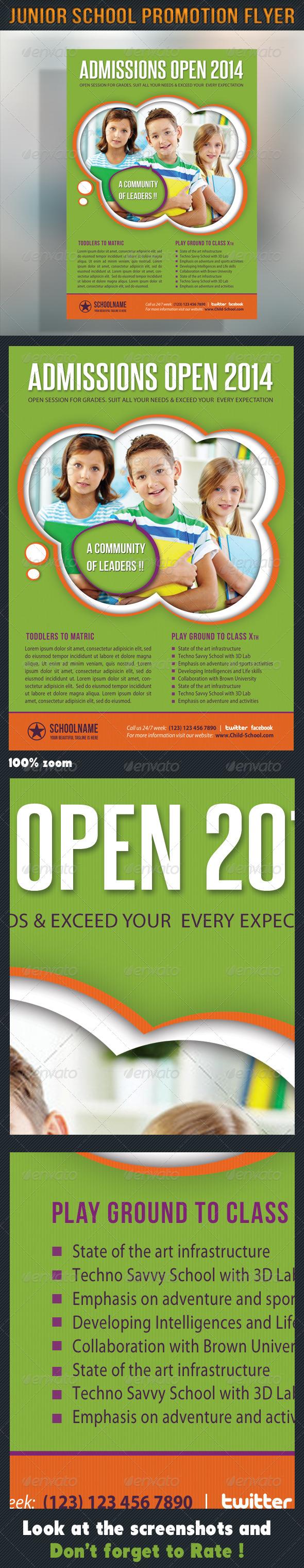 GraphicRiver Junior School Promotion Flyer 03 6903821