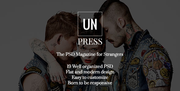 unPress - The PSD Magazine for Strangers