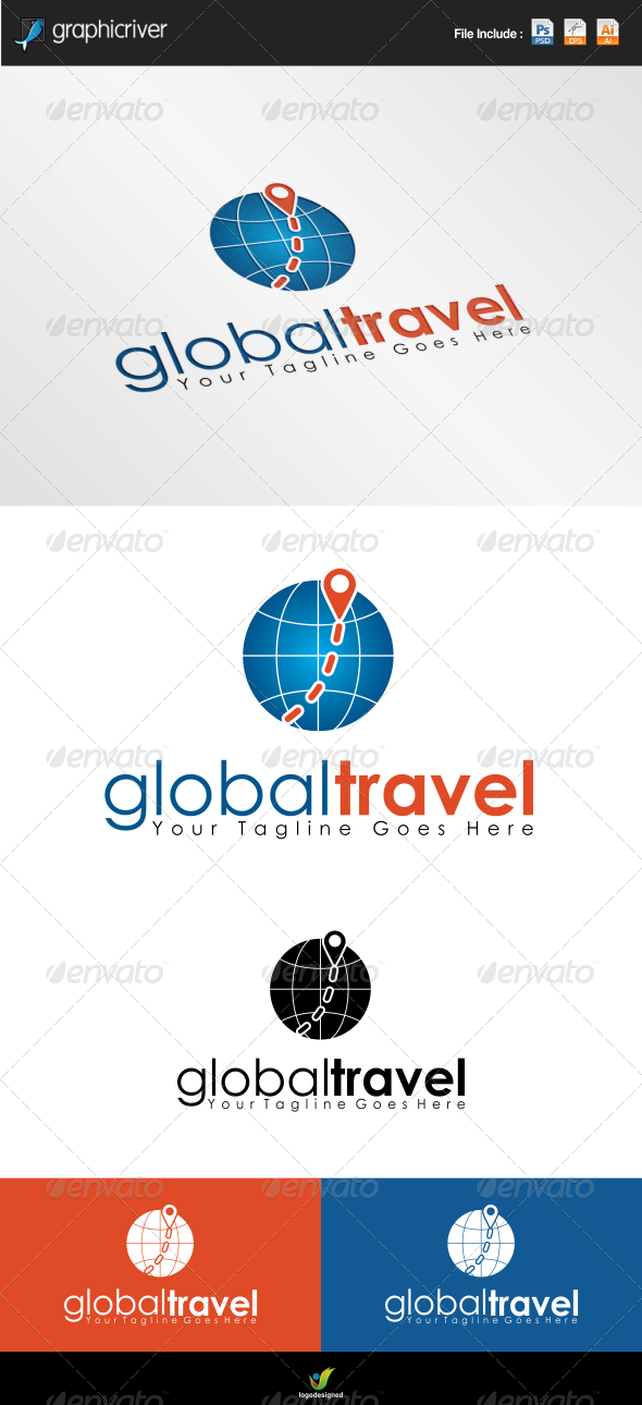 GraphicRiver Global Travel Logo 6864948