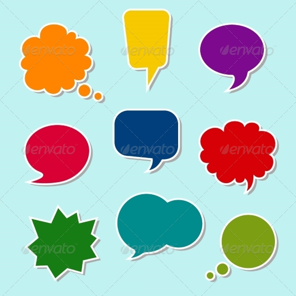 GraphicRiver Set of Colorful Speech Bubbles 6904176