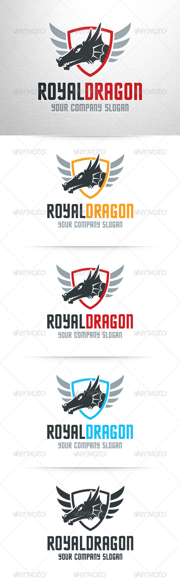 GraphicRiver Royal Dragon Logo Template 6904177