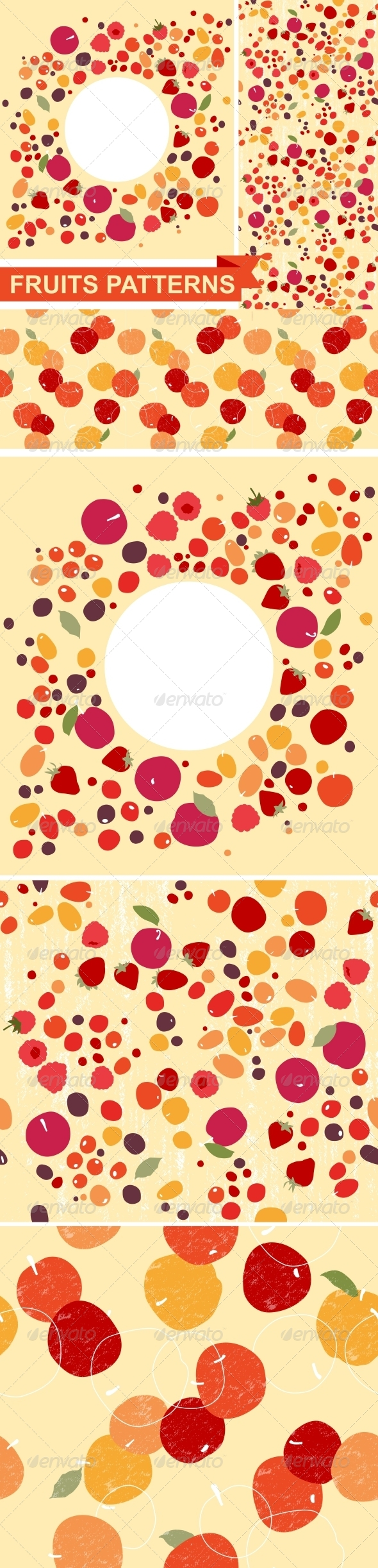 GraphicRiver Fruit Patterns 6904350