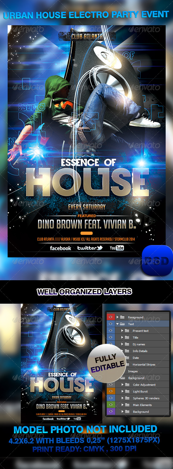 GraphicRiver Urban House Electro Party Event 6904581