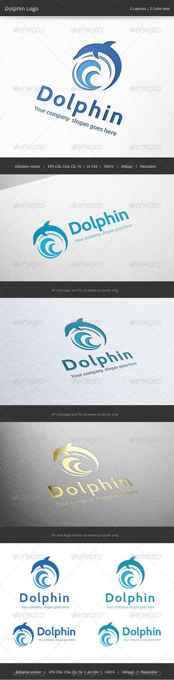 GraphicRiver Dolphin Logo 6904609