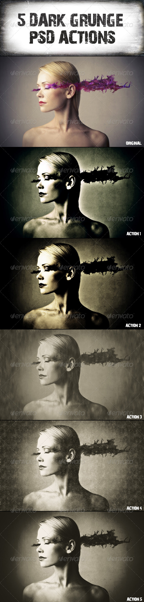 GraphicRiver 5 Dark Grunge Psd Actions 6904614