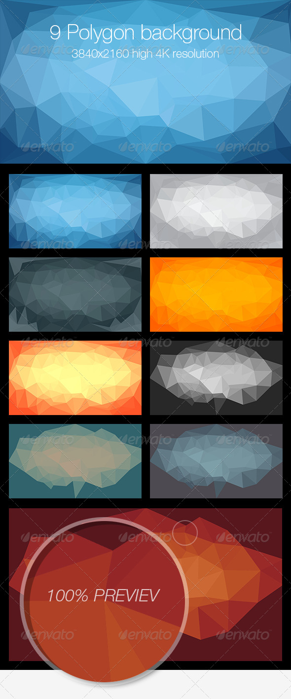 GraphicRiver Polygon Backgrounds 6904643