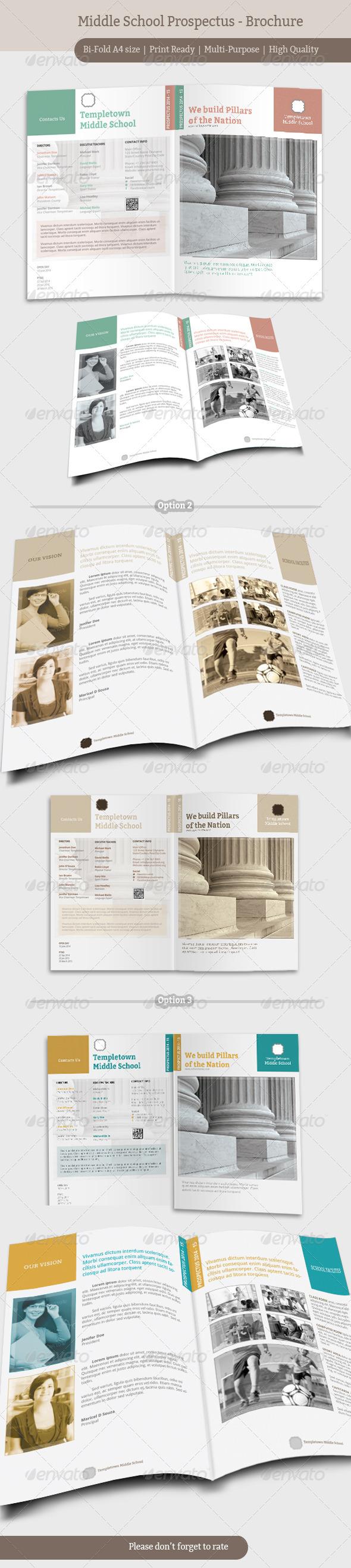 GraphicRiver Middle School Prospectus Brochure 6904734