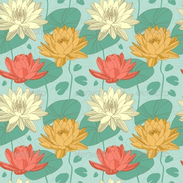 GraphicRiver Flower Seamless Pattern 6904803