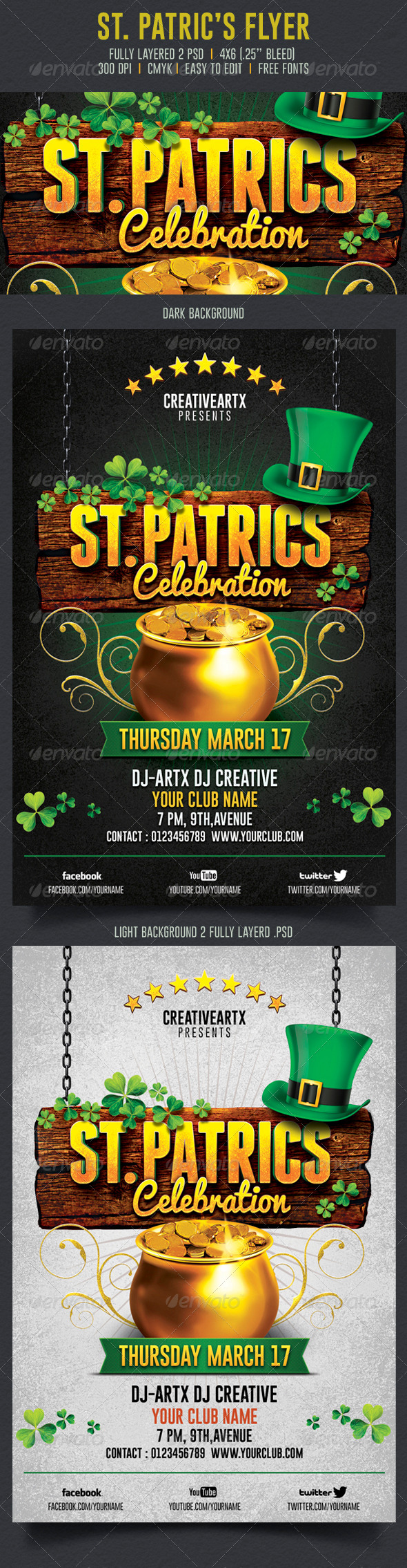 St. Patrick's Celebration Flyer - Events Flyers