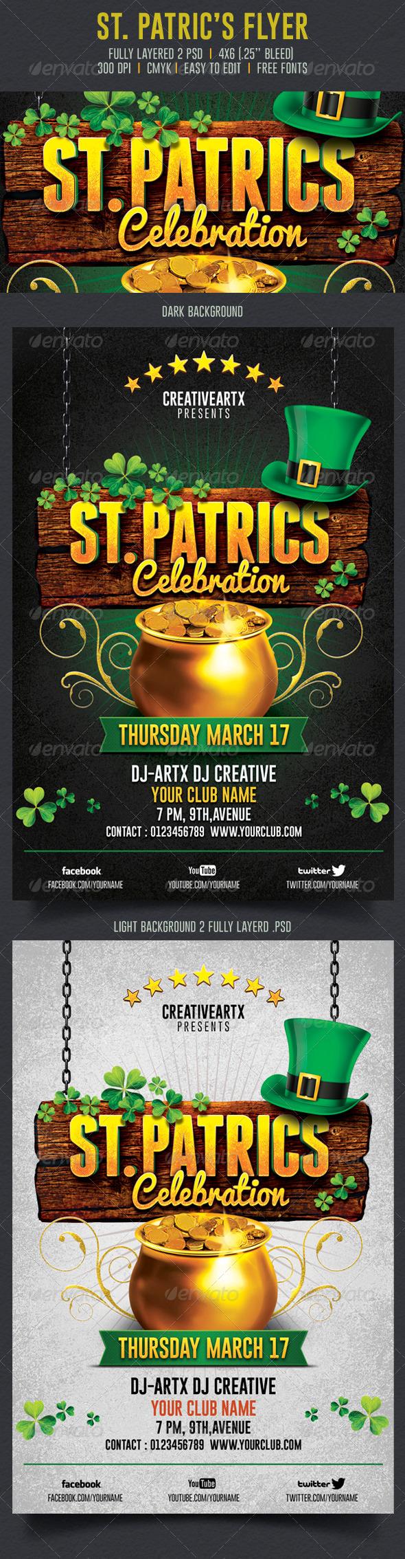 GraphicRiver St Patrick s Celebration Flyer 6904898