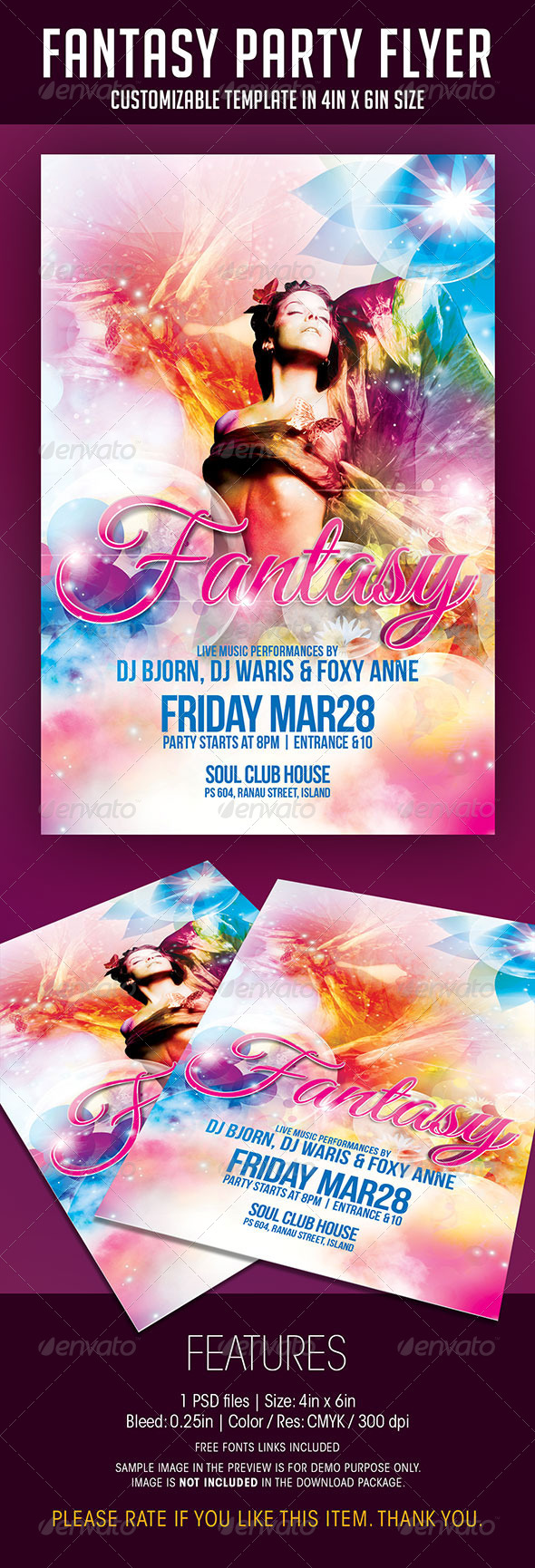 GraphicRiver Fantasy Party Flyer 6905365