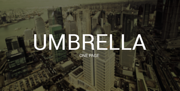 Umbrella - One Page Template - Preview image