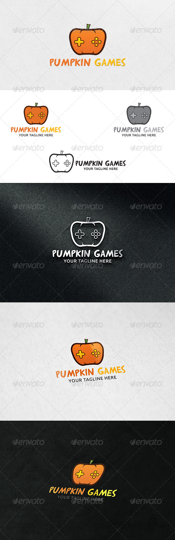 GraphicRiver Pumpkin Games Logo Template 6905633